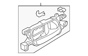 OEM Honda 72160-T2A-A01ZA - Handle, Inside