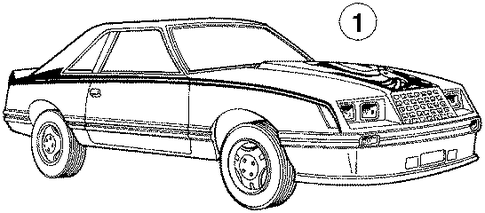 stripe tape for 1984 ford mustang