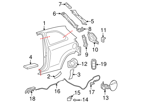 BODY/QUARTER PANEL & COMPONENTS for 2011 Toyota Yaris #1