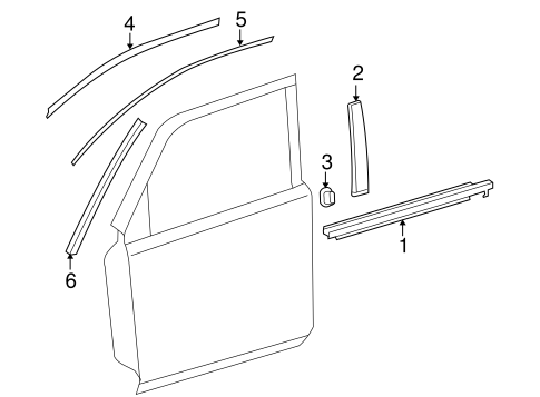 BODY/EXTERIOR TRIM - FRONT DOOR for 2015 Toyota 4Runner #1