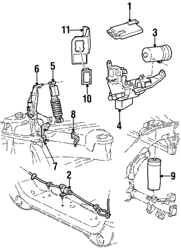 auto leveling components for 2001 lincoln navigator