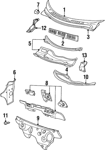 2008 sebring convertible top parts diagram