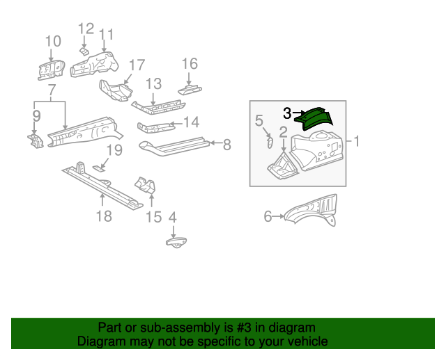 Rear Extension - Toyota (53731-17040)