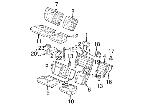 OEM Honda 82522-S9A-J01 - Pad Assembly, L Rear Seat-Back