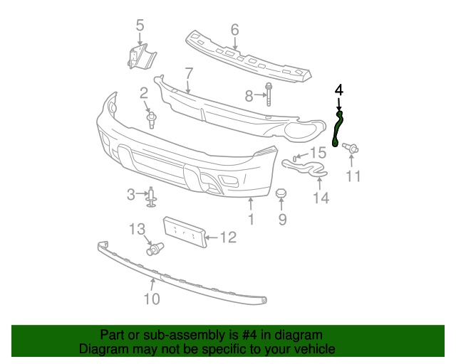 Bumper Cover Brace - GM (15787494)
