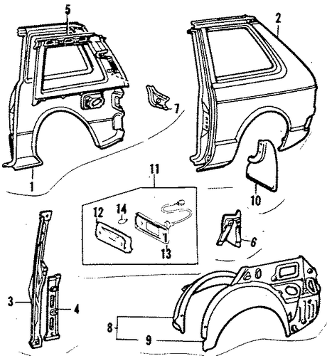 Lock Pillar - Toyota (61304-10032)