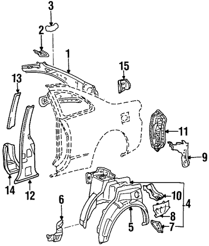 BODY/INNER STRUCTURE for 1996 Toyota Celica #1