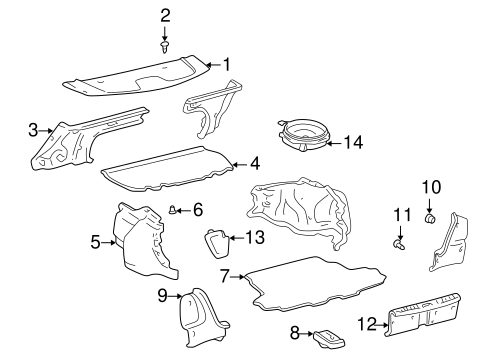 BODY/INTERIOR TRIM - REAR BODY for 1999 Toyota Corolla #1