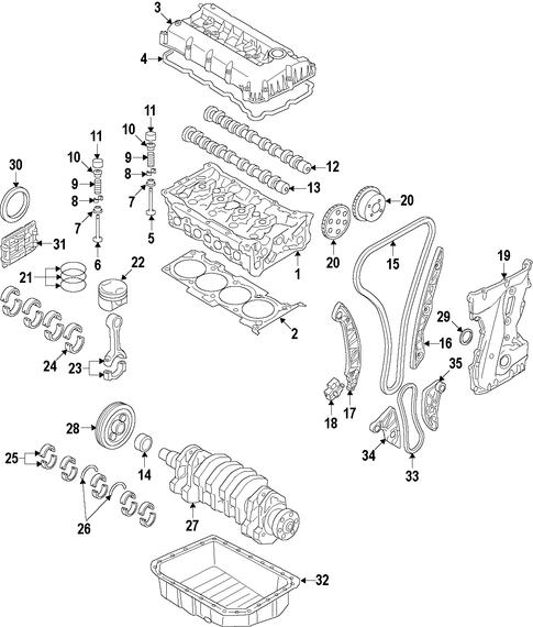 santa fe engine parts