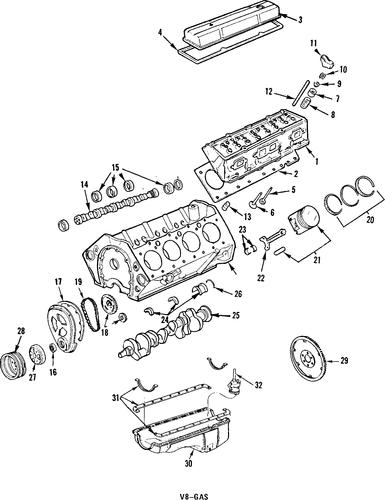 engine parts for 1986 oldsmobile cutlass supreme