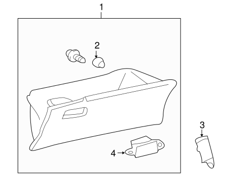 Glove Box - Toyota (55550-12491-B0)