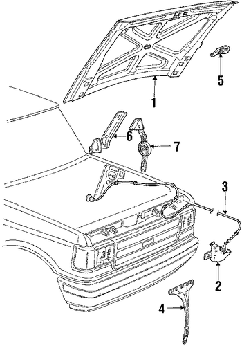 hood  u0026 components for 1988 ford bronco