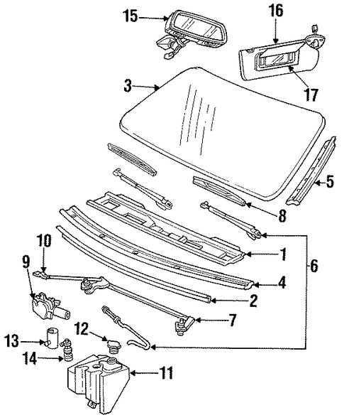 oem wiper  u0026 washer components for 1996 chevrolet caprice