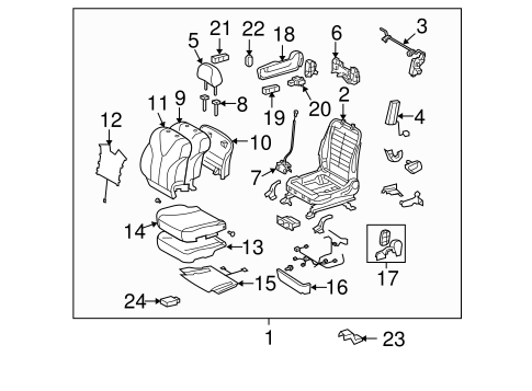 BODY/PASSENGER SEAT COMPONENTS for 2012 Toyota Venza #1