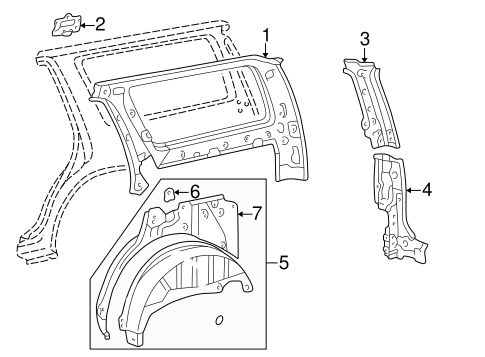 BODY/INNER STRUCTURE for 1998 Toyota 4Runner #1