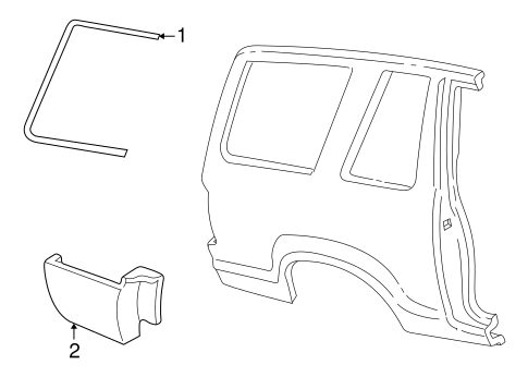 Exterior Trim Quarter Panel For 2003 Ford Explorer
