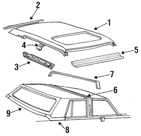 exterior trim roof for 1985 lincoln town car. Black Bedroom Furniture Sets. Home Design Ideas