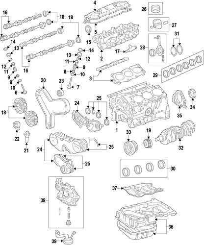 ENGINE/ENGINE for 2004 Toyota Avalon #1