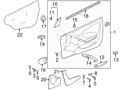 Door Trim Panel - Toyota (67610-2G761-C2)