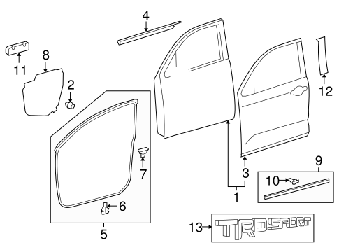 Door Shell - Toyota (67001-0C102)