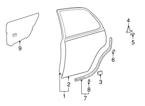 BODY/DOOR & COMPONENTS for 1999 Toyota Camry #2