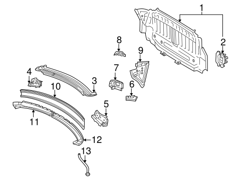 Panel Above Lid - Toyota (64101-33250)