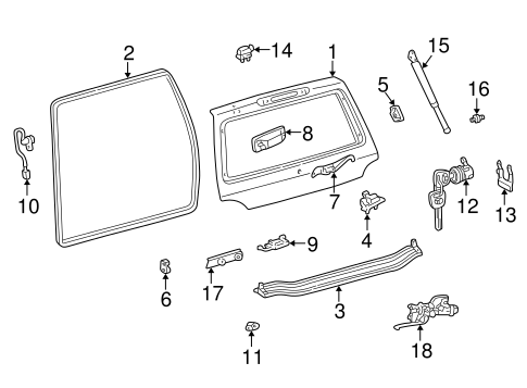 BODY/GATE & HARDWARE for 1998 Toyota Land Cruiser #1