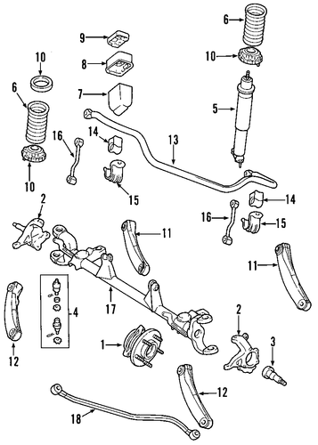 front suspension for 2004 jeep grand cherokee