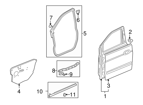 OEM Honda 91568-SR2-003 - Door Weather-strip Clip