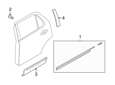 Exterior Trim Rear Door For 2013 Ford Explorer