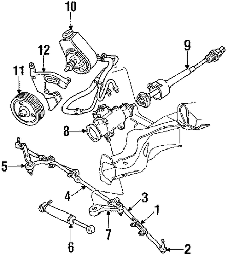 Cadillac Accessories Catalog: STEERING GEAR & LINKAGE For 1991 Cadillac Brougham