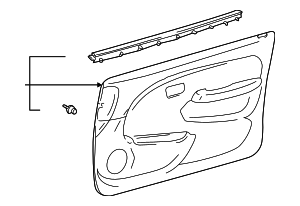 Trim Panel Assembly - Toyota (67620-3D290-B0)
