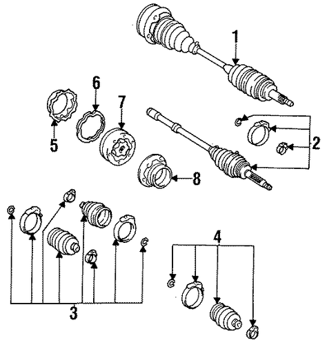 REAR SUSPENSION/DRIVE AXLES for 1997 Toyota Supra #1
