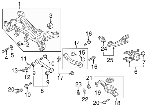 2005 hyundai tucson rear brakes diagram