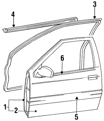 Door Weather-Strip - Toyota (67862-16270)