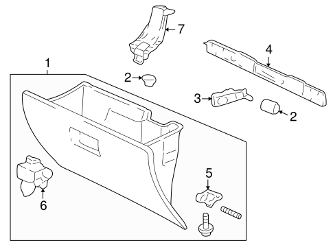 OEM Honda 77500-S10-A01ZC - Glove Box Assembly