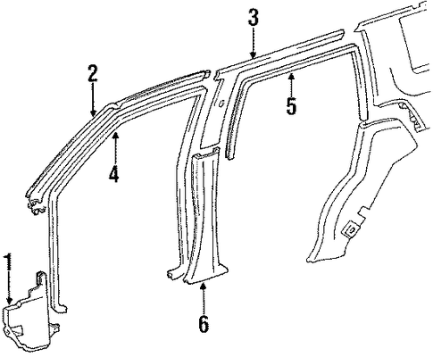 Pillar Trim - Toyota (62414-89102-03)