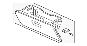 OEM Honda 77500-S9A-A01ZA - Glove Box Assembly
