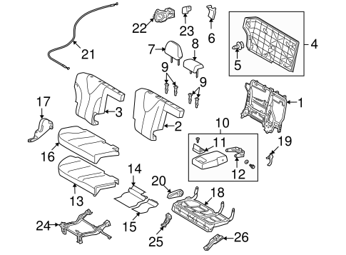 BODY/REAR SEAT COMPONENTS for 2015 Toyota Venza #2