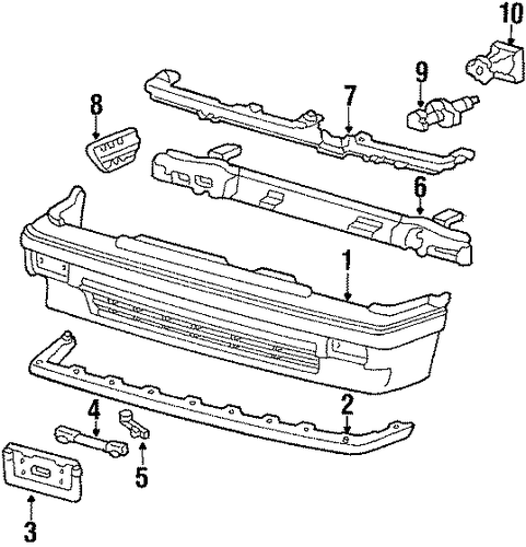 OEM Honda 90683-SB6-660 - Lower Reinforced Clip