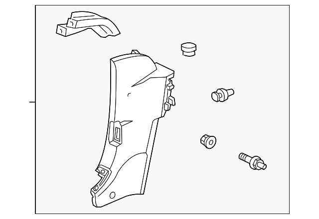 OEM Honda 84141-S2A-A01ZA - Quarter Trim Panel