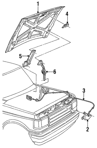 hood  u0026 components for 1996 ford bronco