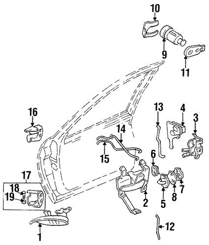 rear door for 1998 chevrolet lumina