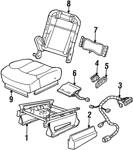 power seats parts for 1999 chevrolet tahoe