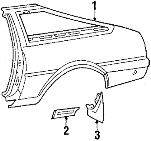 Quarter Panel - Toyota (61601-1E270)