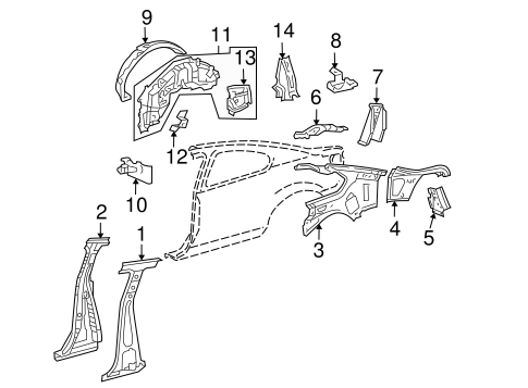 BODY/INNER STRUCTURE for 2010 Scion tC #1