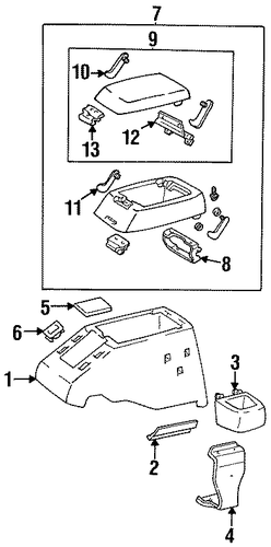 Lid Assembly - Toyota (58905-60010-B0)