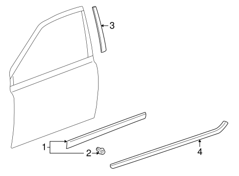 BODY/EXTERIOR TRIM - FRONT DOOR for 2000 Toyota Echo #1