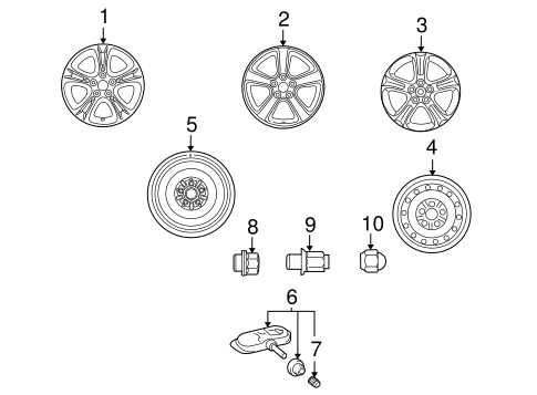 FRONT SUSPENSION/WHEELS for 2007 Toyota Solara #1