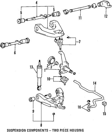 FRONT SUSPENSION/SUSPENSION COMPONENTS for 1996 Toyota T100 #2